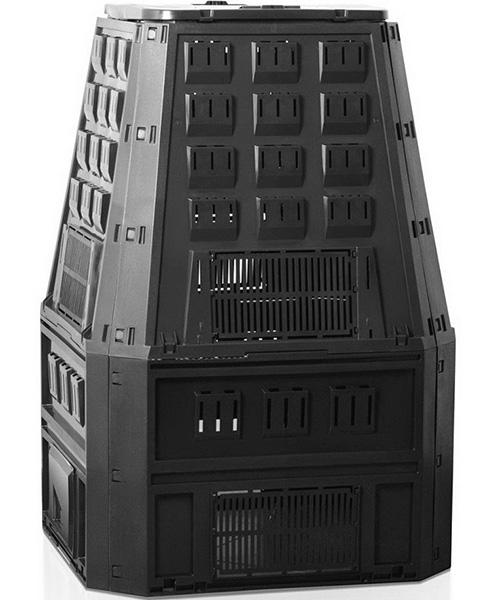 Садовый компостер PROSPERPLAST Evogreen 850 л с крышкой (134,5 × 90 × 91 см, чёрный)