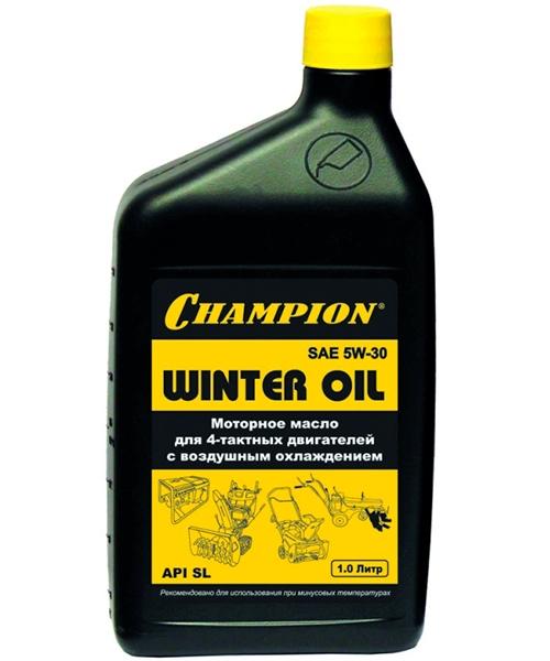 Масло зимнее CHAMPION SAE 5W-30 для 4-тактных двигателей (1 л)