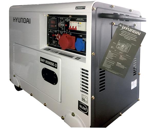 Дизельный электрогенератор HYUNDAI DHY 8500SE-3