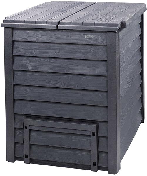 Садовый компостер GRAF Thermo-Wood 600 л с крышкой и решётчатым дном (100 × 80 × 80 см, антрацит)