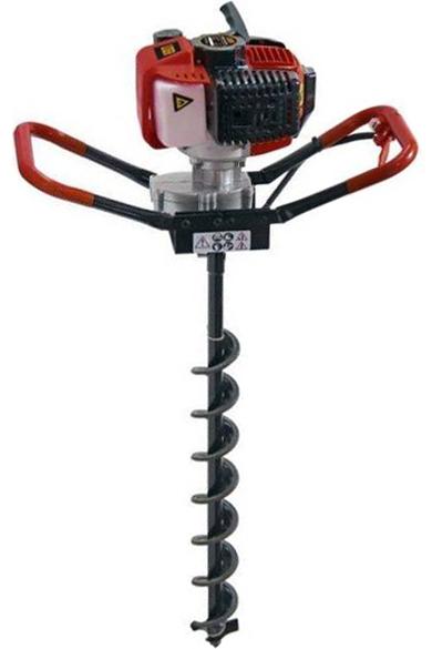 Мотобур LIDER GD-2000 + шнек для почвы 100х800 мм