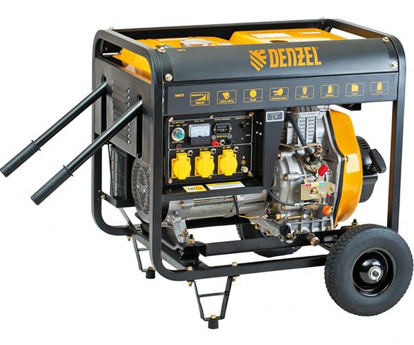 Дизельный электрогенератор DENZEL DD5800E