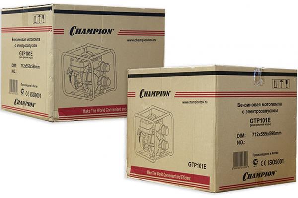 Упаковка мотопомпы CHAMPION GTP101E