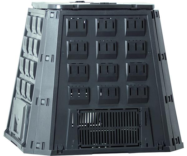 Садовый компостер PROSPERPLAST Evogreen 420 л с крышкой (800 × 885 × 885 мм, чёрный)