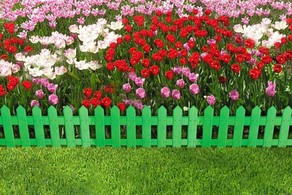 Декоративное ограждение «Палисадник» (0,2 × 1,9 м, зелёный)