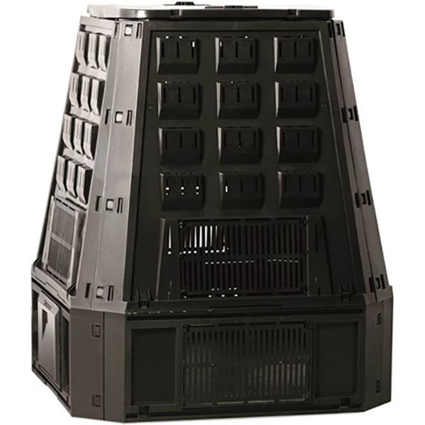 Садовый компостер PROSPERPLAST Evogreen 630 л с крышкой (107 × 90 × 91 см, чёрный)