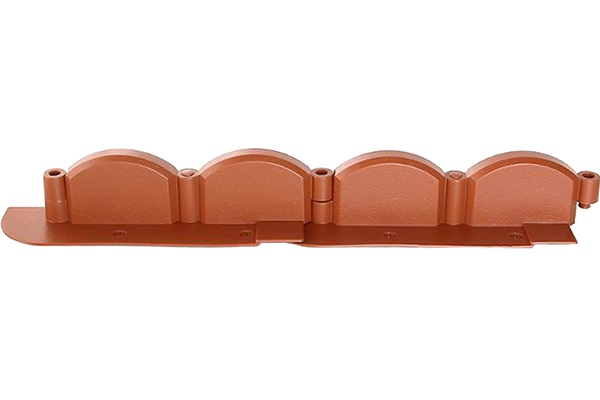 Декоративный бордюр «Волна» (0,09 × 3,2 м, терракотовый)