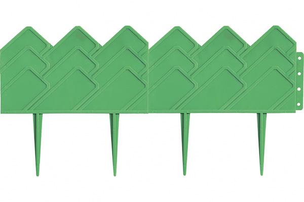Декоративный бордюр «Кантри» (0,14 × 3,1 м, зелёный)