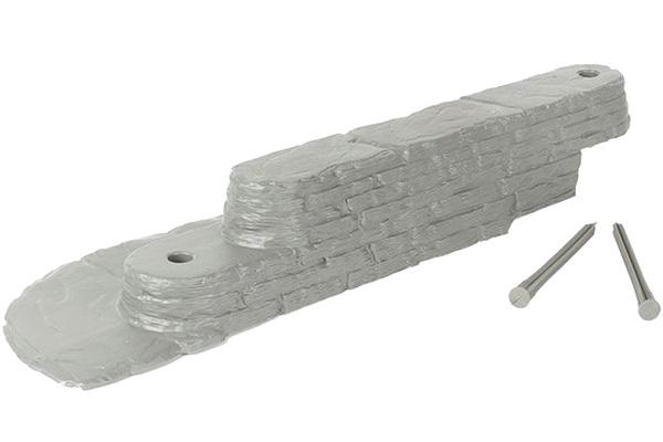 Декоративный бордюр «Лабиринт» (0,08 × 3 м, серый)
