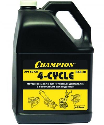 Масло CHAMPION SAE30 для 4-тактных двигателей (4 л)