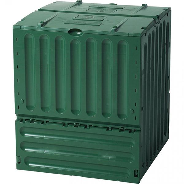 Садовый компостер GRAF Eco-King 600 л с крышкой (95 × 80 × 80 см, зелёный)