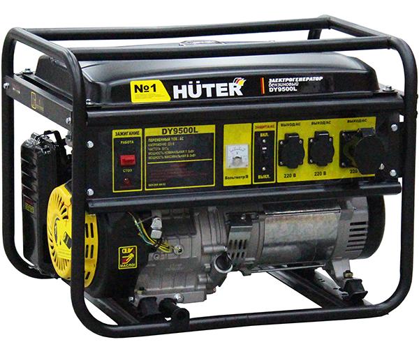 Бензиновый электрогенератор HUTER DY9500L