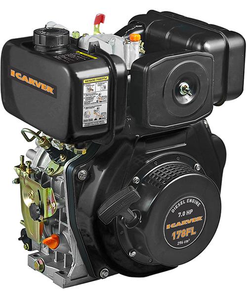 Двигатель бензиновый 4-тактный CARVER 177FL