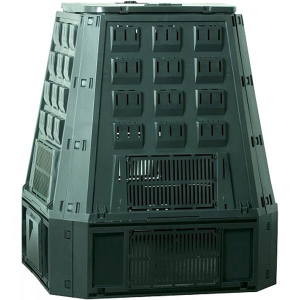 Садовый компостер PROSPERPLAST Evogreen 630 л с крышкой (107 × 90 × 91 см, зелёный)