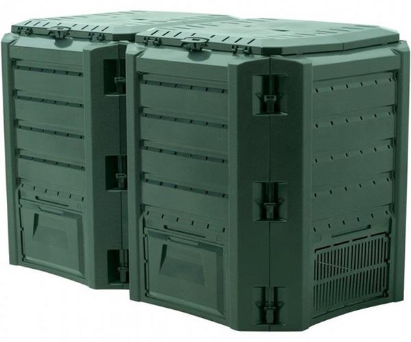 Садовый компостер PROSPERPLAST Module Compogreen 800 л (1350 × 719 × 826 мм, зелёный)