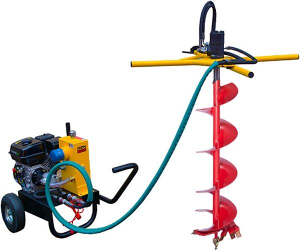 Гидравлический мотобур IRON MOLE COMPACT