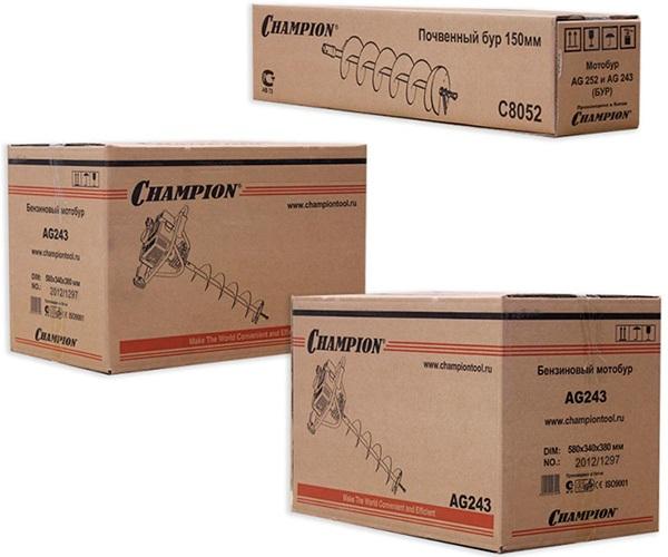 Упаковка бензобура CHAMPION AG-243