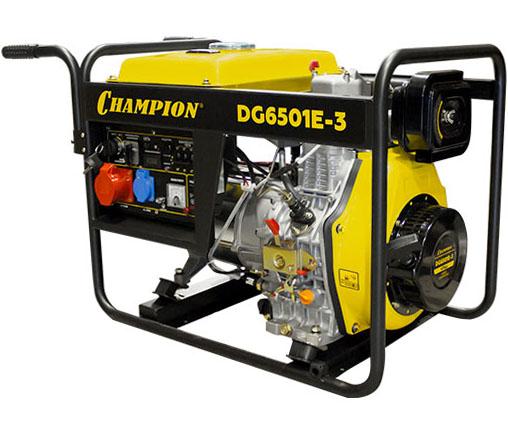 Дизельный электрогенератор CHAMPION DG 6501E-3