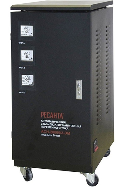 Стабилизатор напряжения РЕСАНТА АСН-20000/3-ЭМ