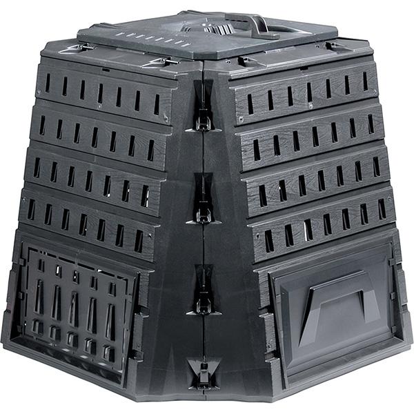 Садовый компостер PROSPERPLAST Biocompo 500 л с крышкой (844 × 1018 × 1018 мм, чёрный)