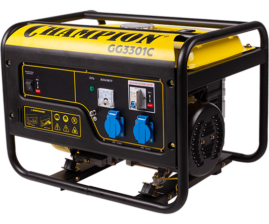Бензиновый электрогенератор CHAMPION GG3301C