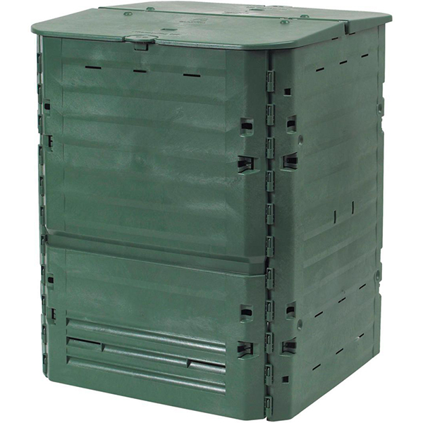 Садовый компостер GRAF Thermo-King 400 л с крышкой (84 × 74 × 74 см, зелёный)