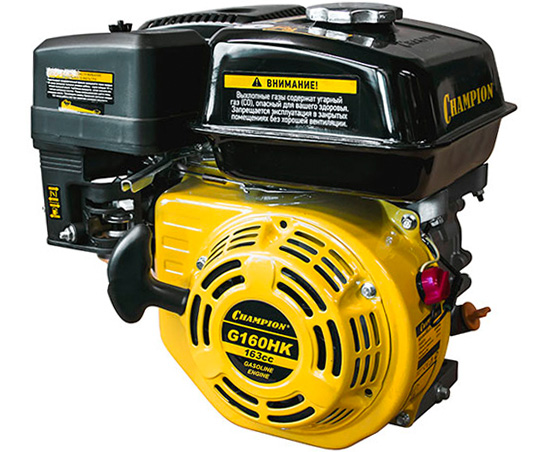 Двигатель бензиновый 4-тактный CHAMPION G160HK