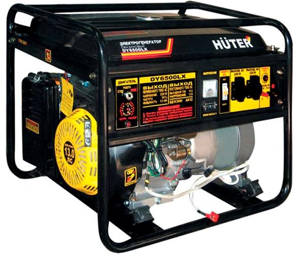 Бензиновый электрогенератор HUTER DY6500LX