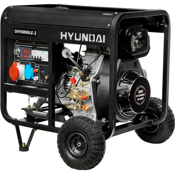 Дизельный электрогенератор HYUNDAI DHY 8000LE-3