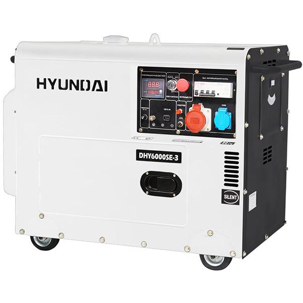 Дизельный электрогенератор HYUNDAI DHY 6000SE-3
