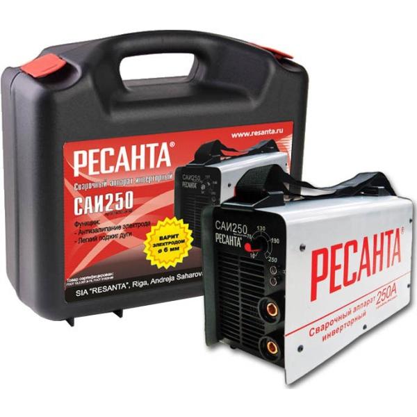 Инвертор сварочный РЕСАНТА САИ-250 в кейсе