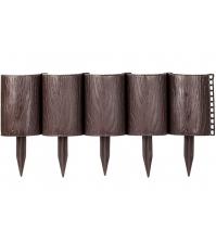 Декоративное ограждение «Садовый конструктор» (0,15 × 3 м, коричневый)