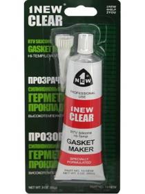 Герметик прокладок силиконовый 1NEW CLEAR (прозрачный, тюбик 85 г)