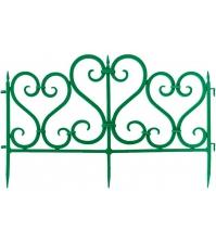 Декоративное ограждение «Ажурное» (0,25 × 3 м, зелёный)