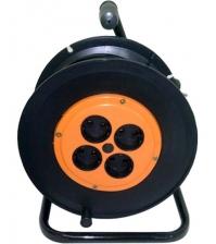 Удлинитель силовой 40 м на катушке (2 × 0,75 мм², 4 розетки)