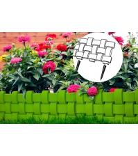 Декоративное ограждение «Плетёнка» (0,2 × 2,4 м, зелёный)