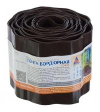 Бордюрная лента ПРОТЭКТ Б-15/9 (15 × 900 см, гофрированная, коричневая)