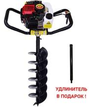 Мотобур PROBUR 250 + шнек для почвы 200 мм + удлинитель 500 мм