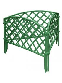 Декоративное ограждение «Сетка» (0,24 × 3,2 м, зелёный)