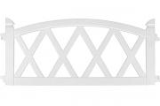 Декоративное ограждение «Арка» (0,26 × 2,4 м, белый)