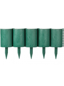 Декоративное ограждение «Садовый конструктор» (0,15 × 3 м, зелёный)