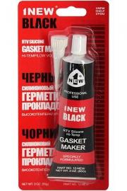 Герметик прокладок силиконовый 1NEW BLACK (чёрный, тюбик 85 г)