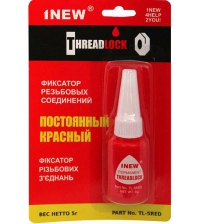 Фиксатор резьбовых соединений 1NEW TL-5 RED (неразъёмный, 5 г)
