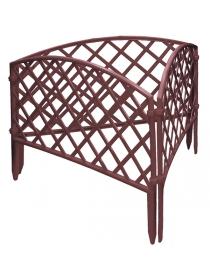 Декоративное ограждение «Сетка» (0,24 × 3,2 м, терракотовый)