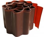 Бордюрная лента PALISAD 20 × 900 см (гофрированная, коричневая)