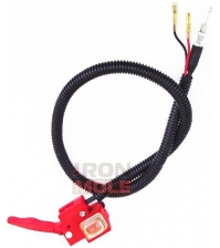 Рычаг газа с кнопкой и тросиком для мотобуров IRON MOLE E43/E53/E73