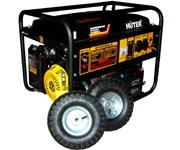 Бензиновый электрогенератор HUTER DY6500LX с колёсами и АКБ