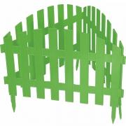 Декоративное ограждение «Винтаж» (0,28 × 3 м, зелёный)
