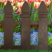 Декоративное ограждение «Штакетник» (0,55 × 2 м, коричневый)
