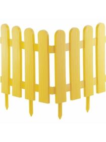 Декоративное ограждение «Классика» (0,29 × 2,24 м, жёлтый)